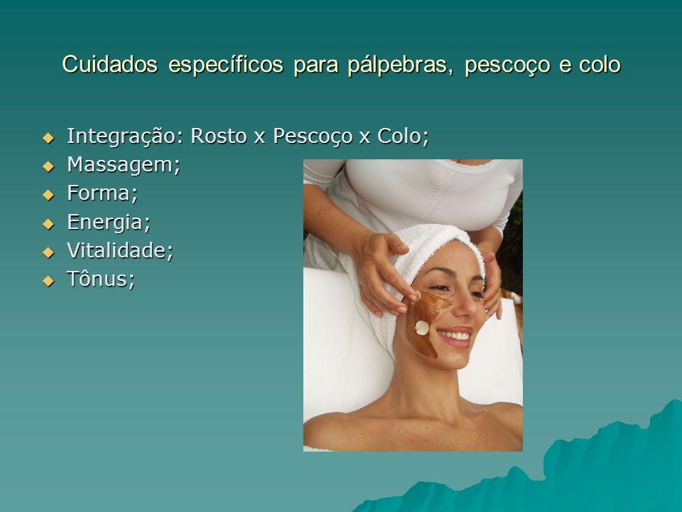 Cuidados específicos para pálpebras, pescoço e colo Máscaras; Máscaras; Definição e contorno ; Definição e contorno ;
