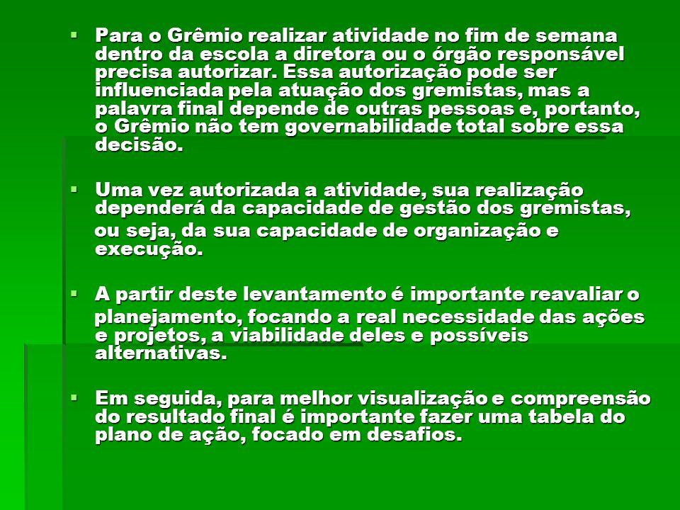 UTILIZAÇÃO DO LIVRO-CAIXA O dinheiro do Grêmio não pertence à diretoria do Grêmio, mas ao conjunto dos alunos,portanto é essencial ser responsável com os gastos e com a prestação de contas.