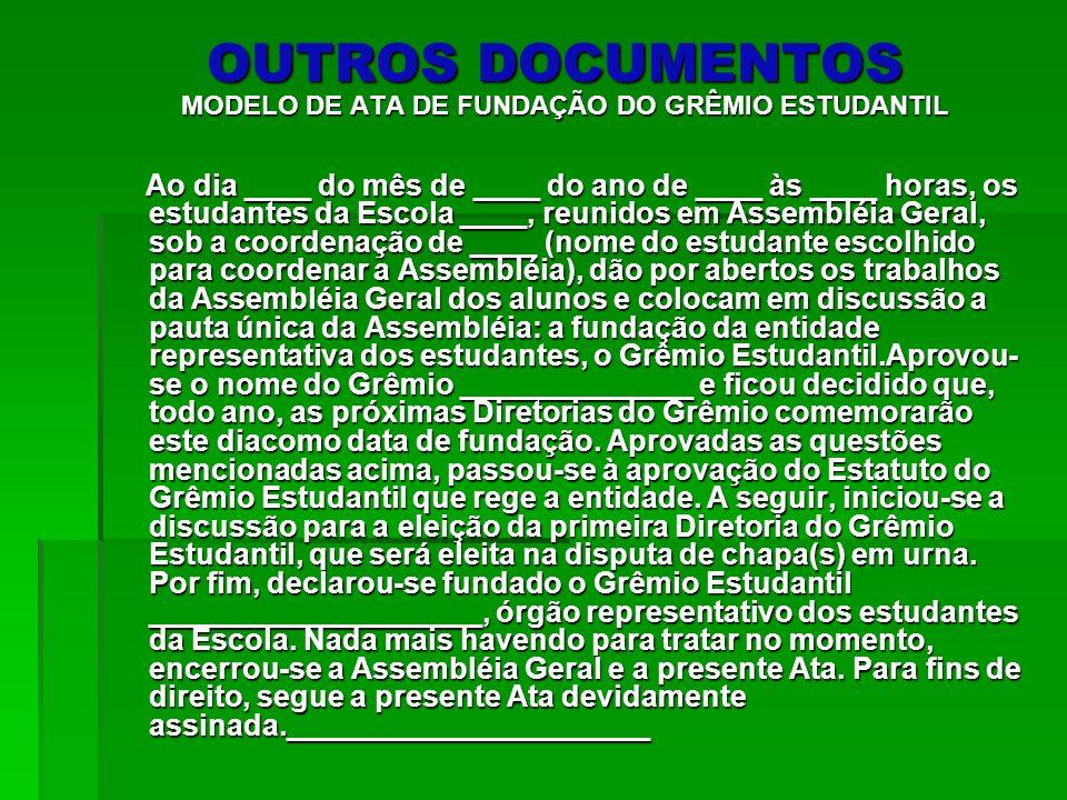 A formação do Grêmio passo a passo 1º PASSO: O grupo interessado em formar o Grêmio comunica a direção escolar, divulga a proposta na escola e convida os alunos interessados e os representantes de classe (se houver) para formar a COMISSÃO pró Grêmio.