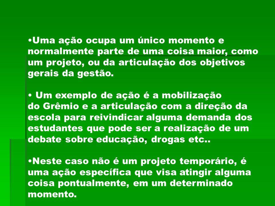 Para planejar qualquer coisa é preciso primeiro ter claros os objetivos do Grêmio, da gestão e de cada ação ou projeto.