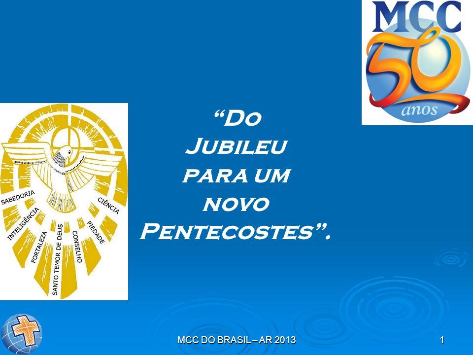 MCC DO BRASIL – AR 20131 Do Jubileu para um novo Pentecostes.