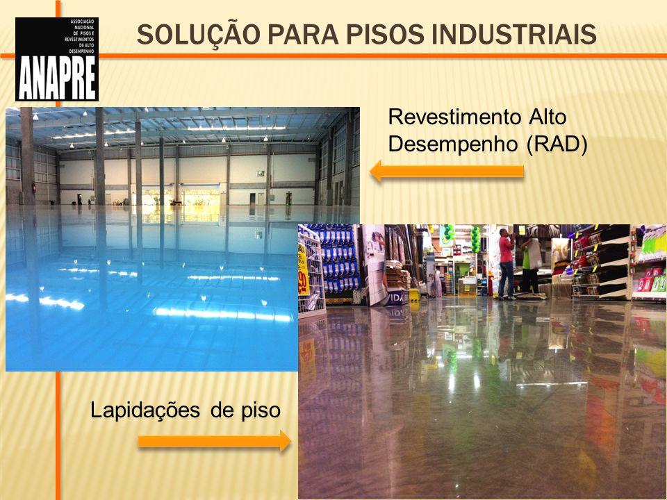 Revestimento Alto Desempenho (RAD) Lapidações de piso SOLUÇÃO PARA PISOS INDUSTRIAIS