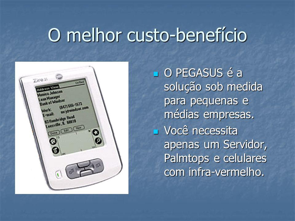 O melhor custo-benefício O PEGASUS é a solução sob medida para pequenas e médias empresas.
