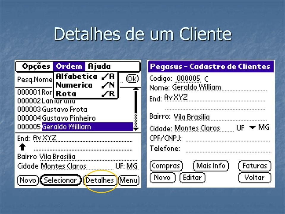 Detalhes de um Cliente