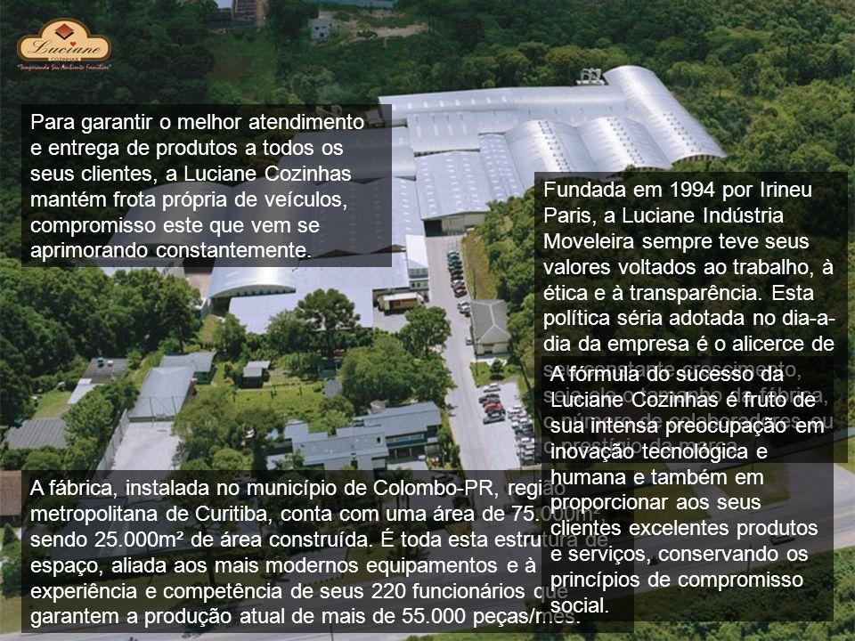 Puxadores Todas as linhas de produtos Luciane Cozinhas utilizam puxadores em poliestireno reforçado e com tratamento de verniz UV, proporcionando alta resistência contra produtos de uso doméstico (exceto produtos abrasivos).
