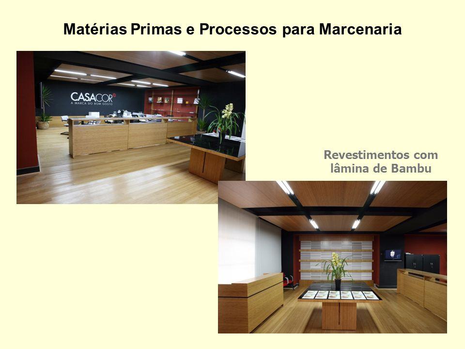 Revestimentos com lâmina de Bambu Matérias Primas e Processos para Marcenaria