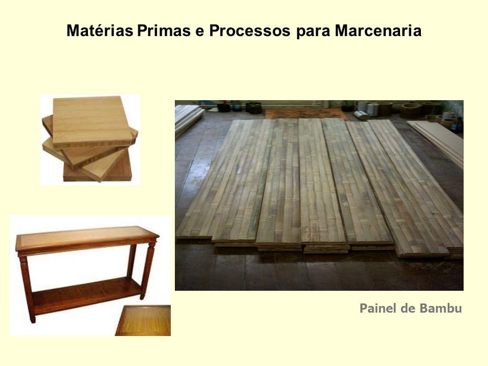 Matérias Primas e Processos para Marcenaria Estruturas de bambu