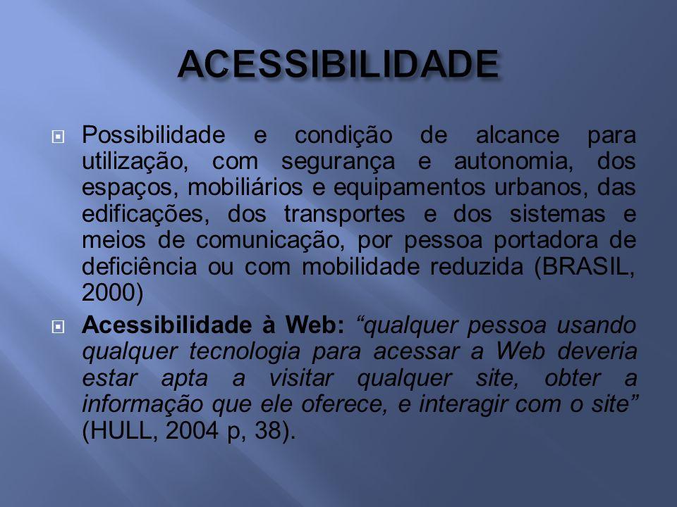 Enquanto, por exemplo, a acessibilidade diz respeito a alcançar a informação desejada e conseguir interagir com um sistema, a usabilidade diz respeito, entre outras coisas, a quão fácil e agradável é usar e navegar por esse sistema.