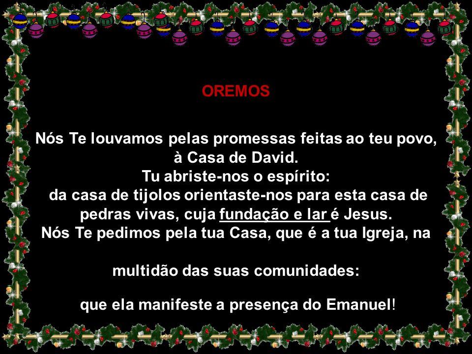 Só com o coração aberto a Deus poderemos acolher os irmãos… Só deixando que Deus seja Natal nas nossas vidas poderemos ser Natal para os outros…Nem ma