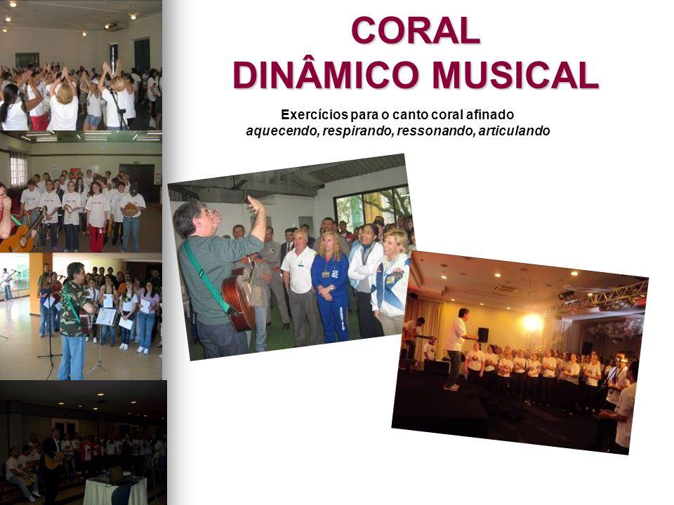 CORAL DINÂMICO MUSICAL Exercícios para o canto coral afinado aquecendo, respirando, ressonando, articulando