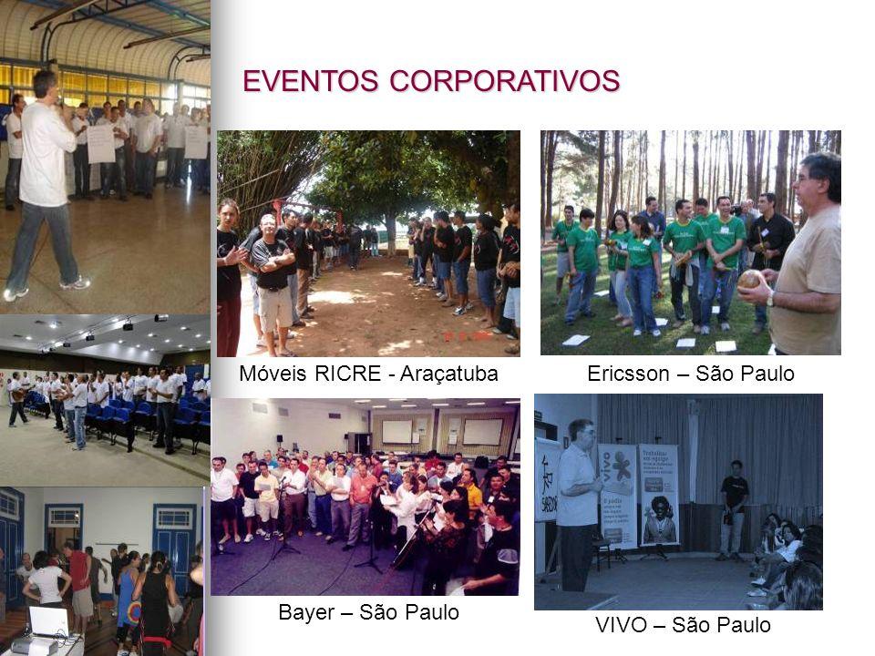 VIVO – São Paulo Bayer – São Paulo Ericsson – São PauloMóveis RICRE - Araçatuba EVENTOS CORPORATIVOS