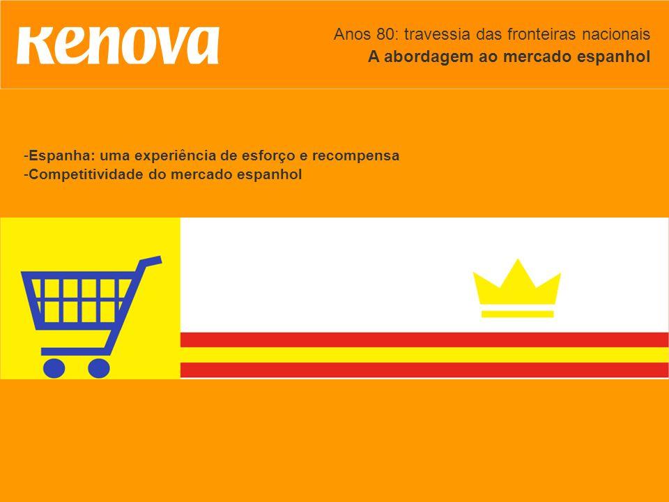Anos 80: travessia das fronteiras nacionais A abordagem ao mercado espanhol -Espanha: uma experiência de esforço e recompensa -Competitividade do merc