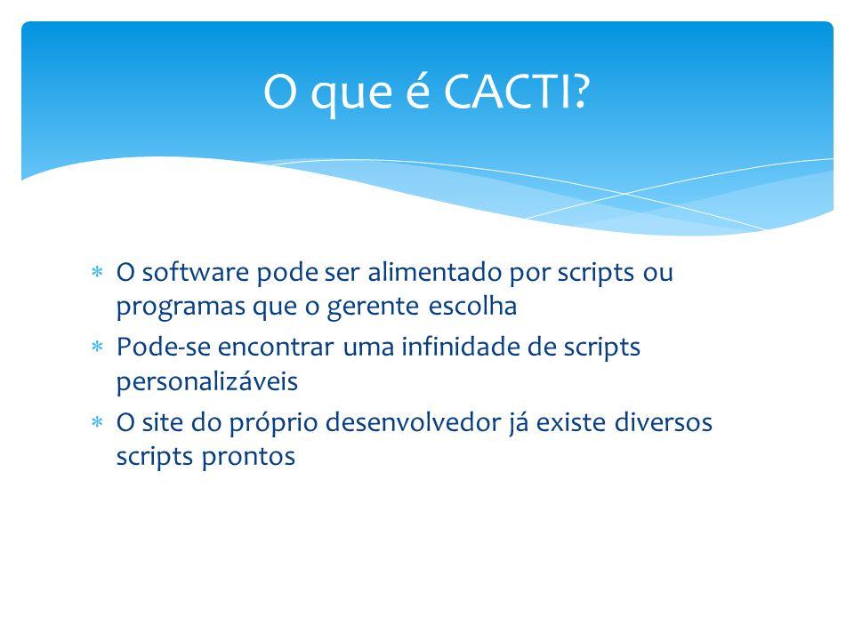 O software pode ser alimentado por scripts ou programas que o gerente escolha Pode-se encontrar uma infinidade de scripts personalizáveis O site do pr
