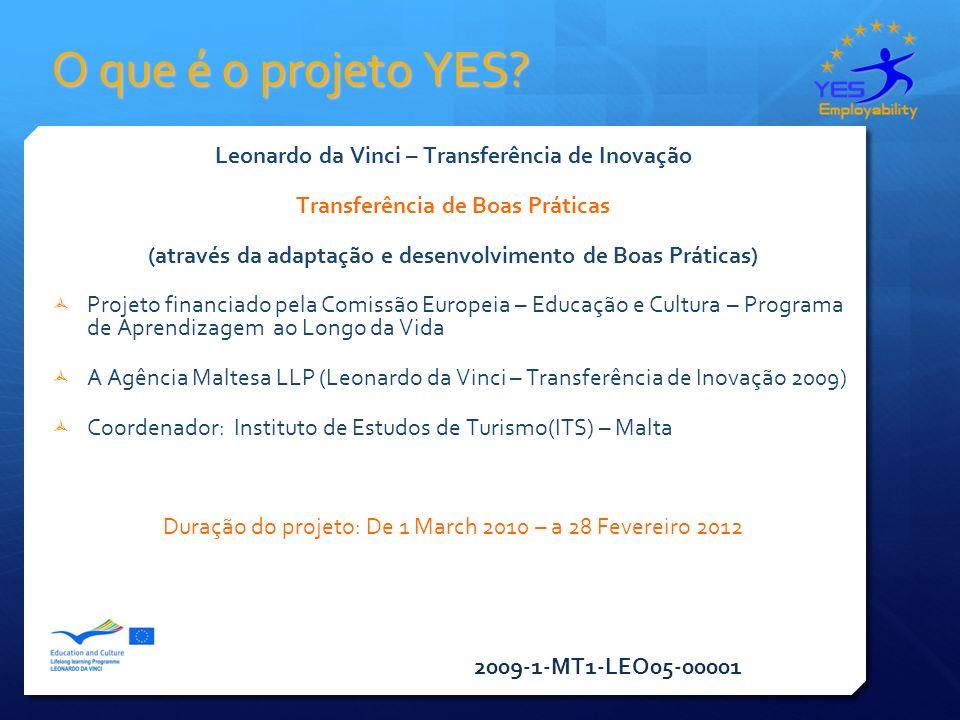 2009-1-MT1-LEO05-00001 O que é o projeto YES.