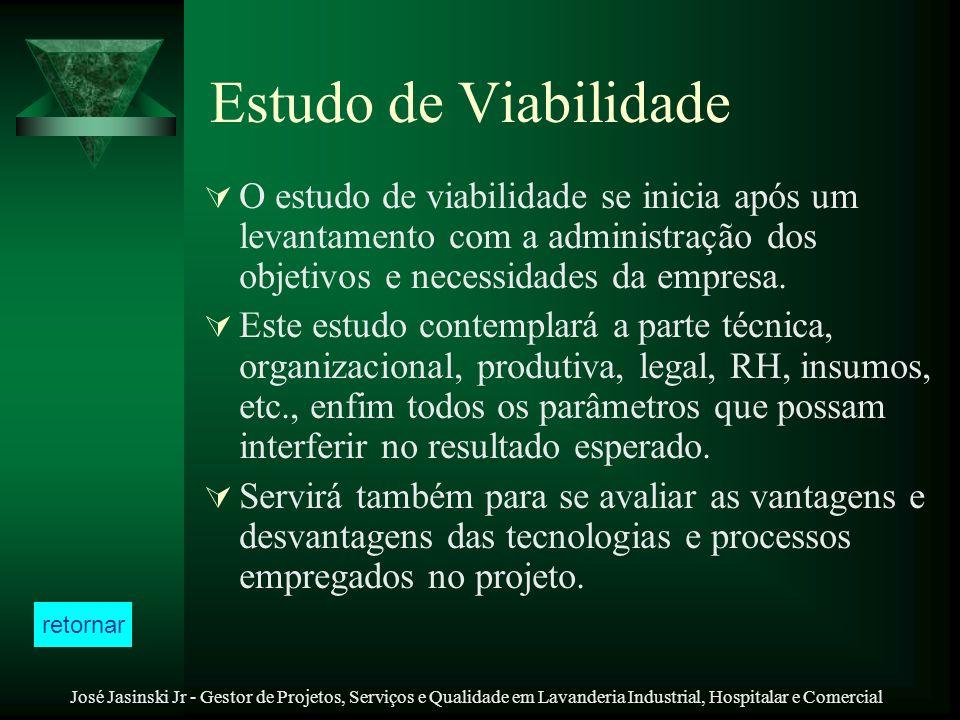José Jasinski Jr - Gestor de Projetos, Serviços e Qualidade em Lavanderia Industrial, Hospitalar e Comercial Estudo de Viabilidade O estudo de viabili