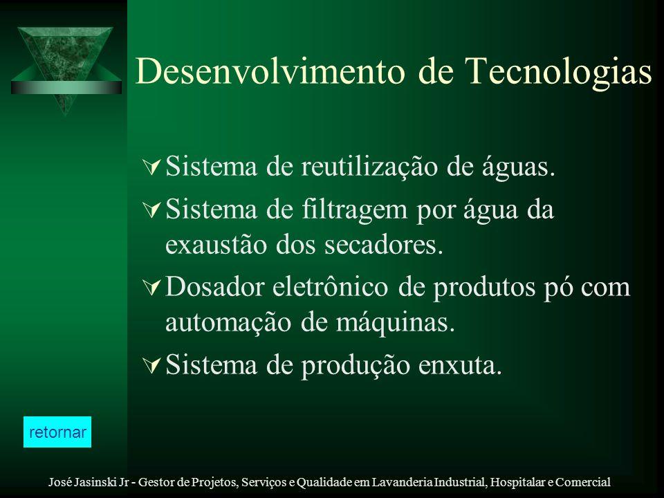 José Jasinski Jr - Gestor de Projetos, Serviços e Qualidade em Lavanderia Industrial, Hospitalar e Comercial Desenvolvimento de Tecnologias Sistema de
