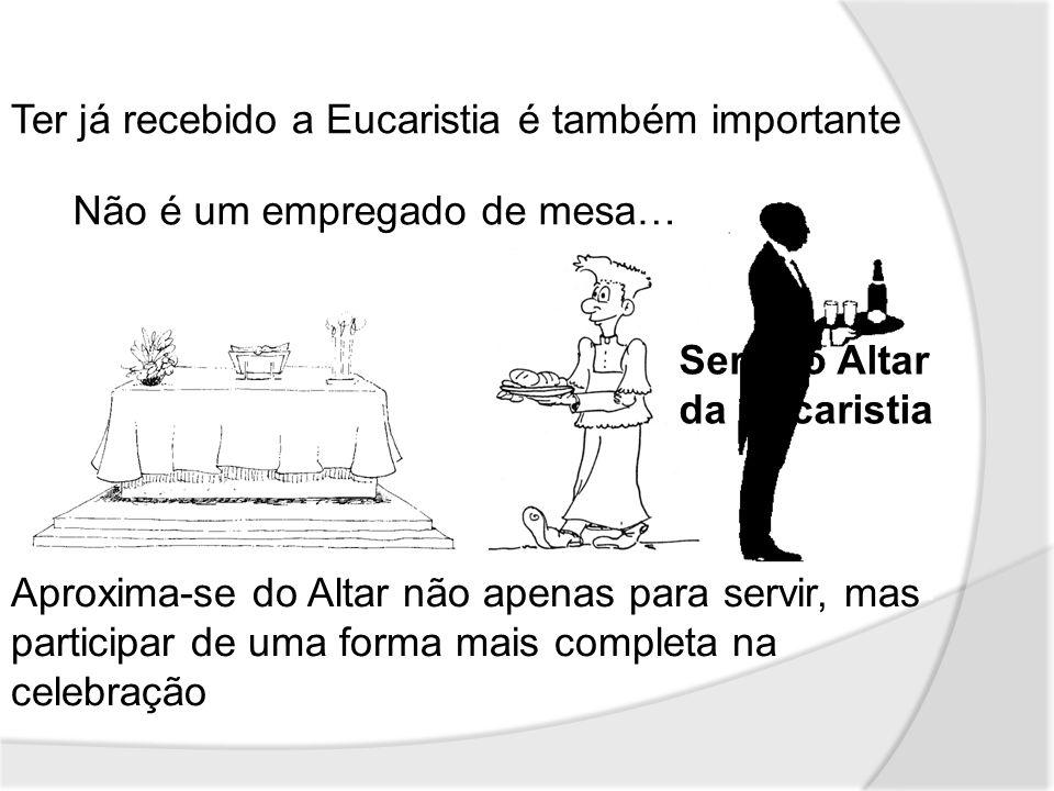 Oração no centro do serviço dos acólitos.