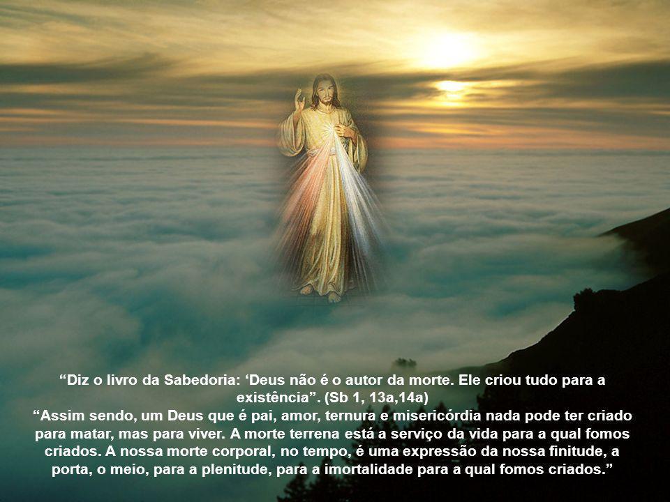Eu sou a ressurreição e a vida. Aquele que crê em mim, ainda que esteja morto, viverá. E todo aquele que vive e crê em mim, jamais morrerá. (Jo 11,25-