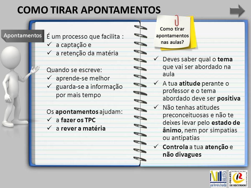 Inicia os apontamentos com a data e o assunto, para facilitar a sua classificação e ordenação.