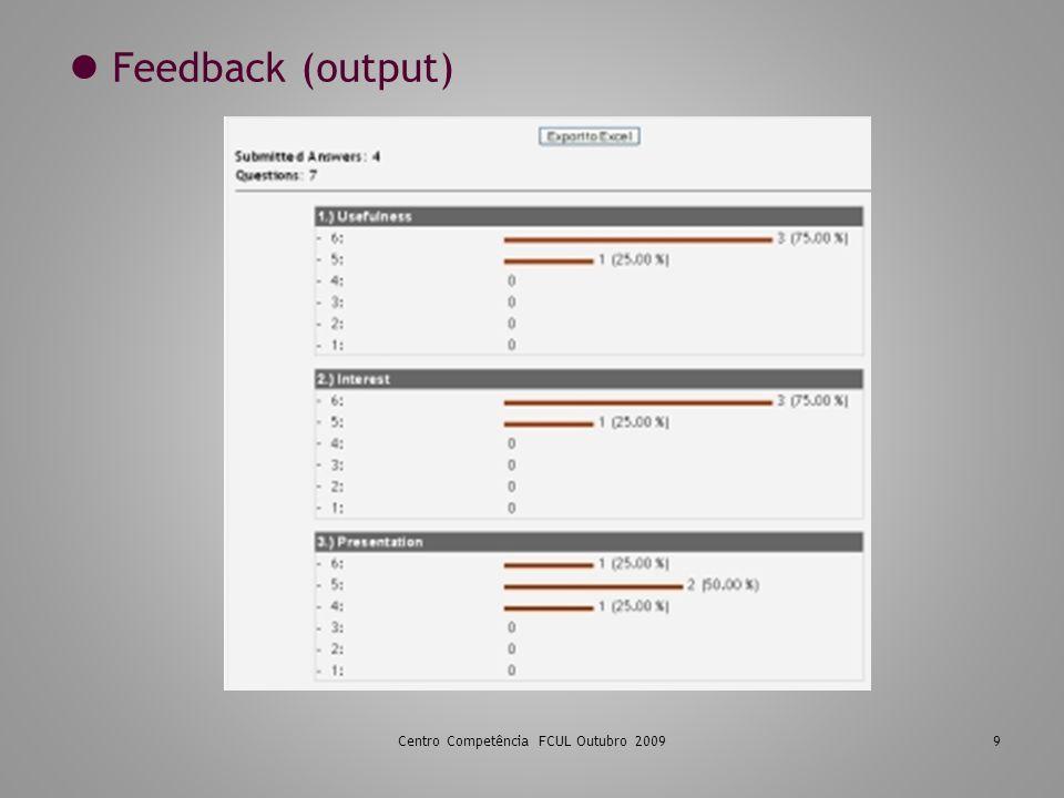 9 Feedback (output)
