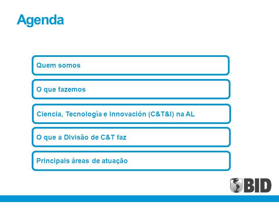 Agenda Quem somos O que a Divisão de C&T faz Ciencia, Tecnología e Innovación (C&T&I) na AL O que fazemos Principais áreas de atuação