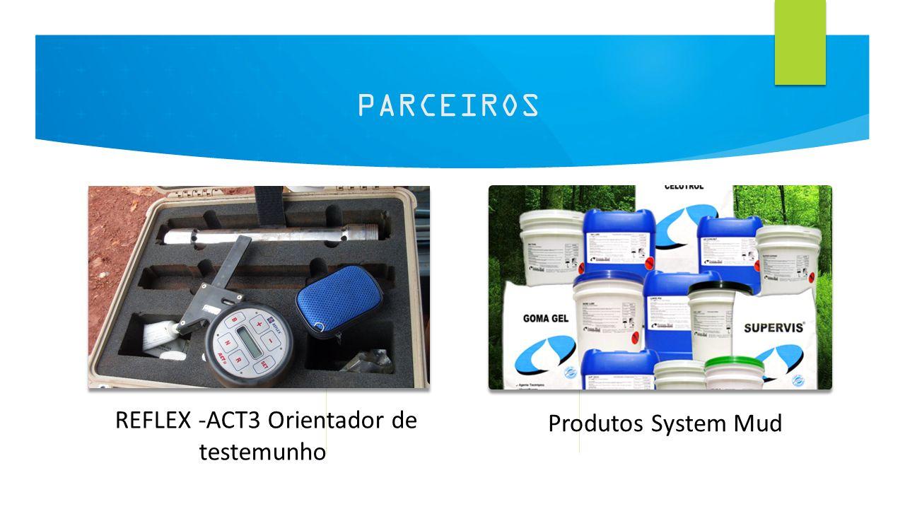 9 PARCEIROS REFLEX -ACT3 Orientador de testemunho Produtos System Mud
