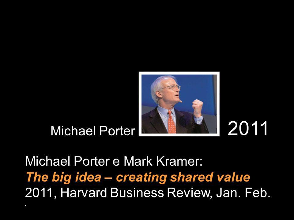 2011 Michael Porter Michael Porter e Mark Kramer: The big idea – creating shared value 2011, Harvard Business Review, Jan. Feb..