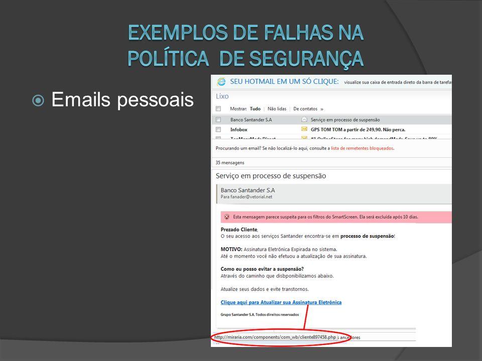 Emails pessoais