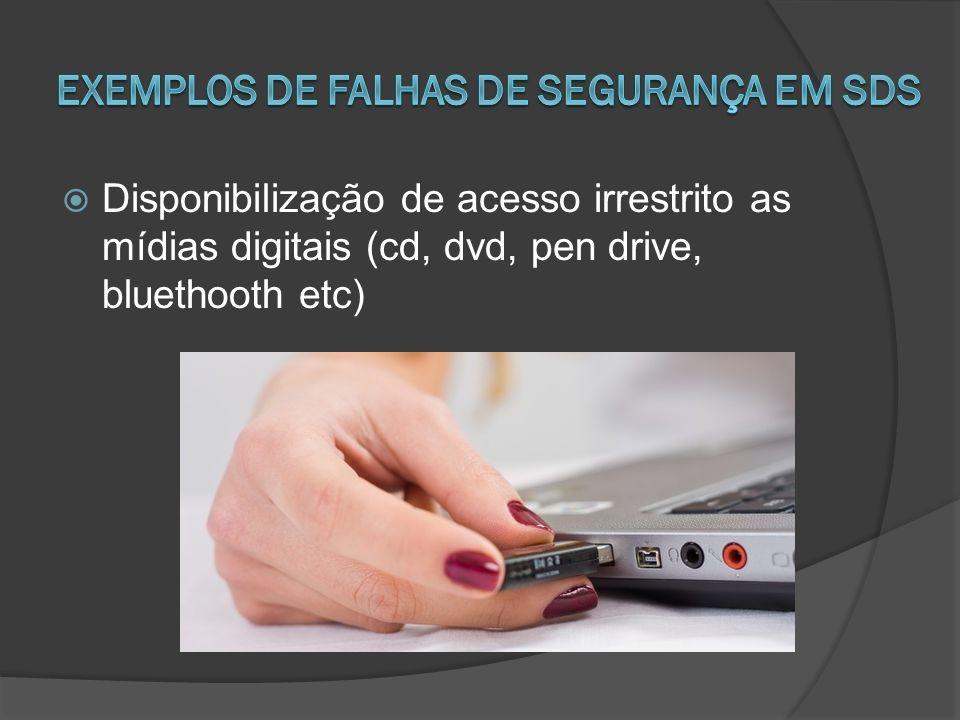 Disponibilização de acesso irrestrito as mídias digitais (cd, dvd, pen drive, bluethooth etc)