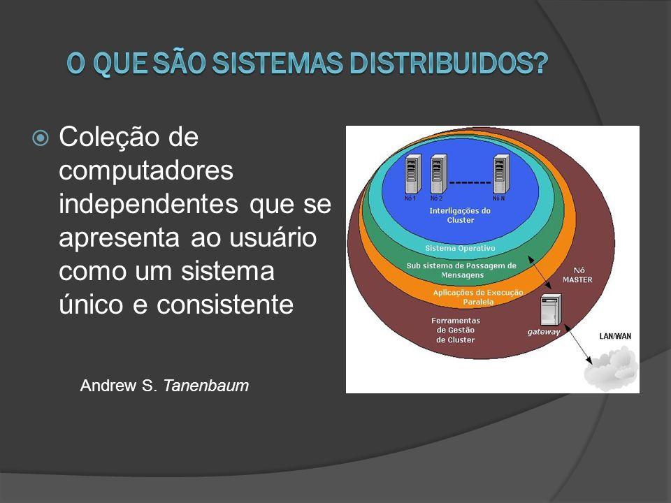 Coleção de computadores independentes que se apresenta ao usuário como um sistema único e consistente Andrew S. Tanenbaum