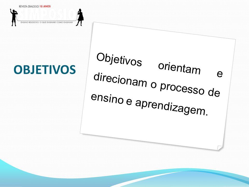 Objetivos orientam toda a ação pedagógica: a seleção de conteúdos, a metodologia e as estratégias.