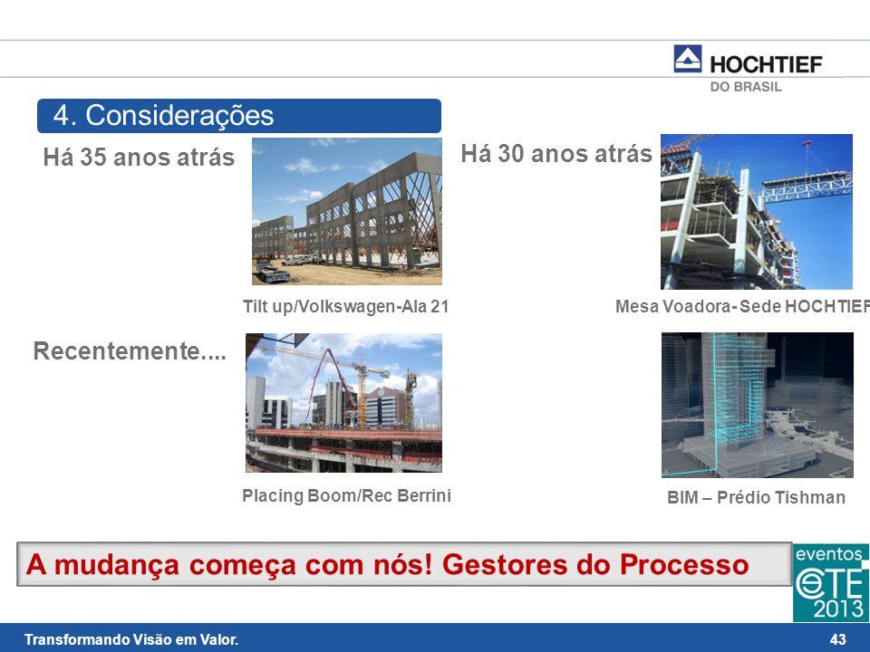 44 Transformando Visão em Valor. Obrigado! andre.glogowsky@hochtief.com.br