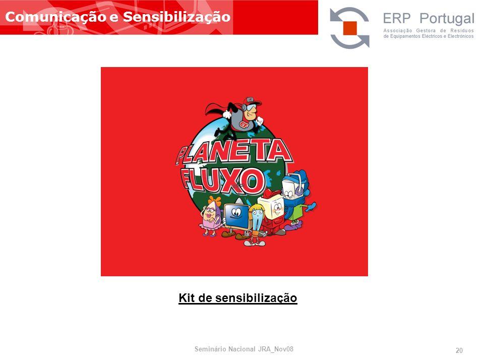 Comunicação e Sensibilização Kit de sensibilização Seminário Nacional JRA_Nov08 20