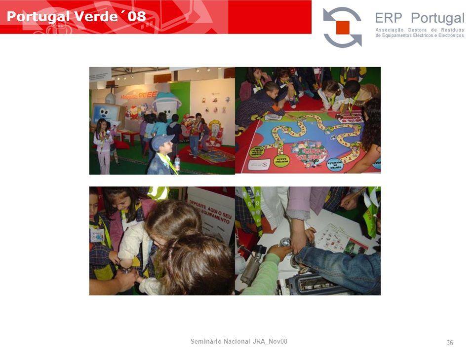 Portugal Verde´08 Seminário Nacional JRA_Nov08 36