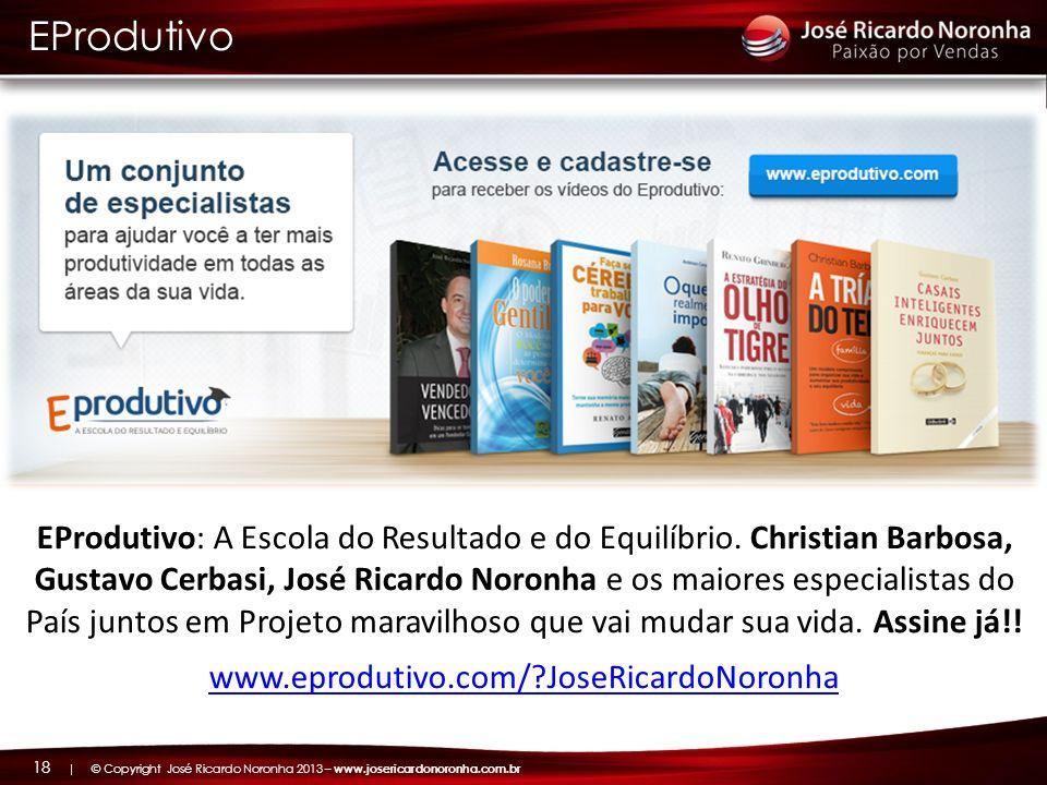 | © Copyright José Ricardo Noronha 2013 – www.josericardonoronha.com.br 18 EProdutivo EProdutivo: A Escola do Resultado e do Equilíbrio. Christian Bar