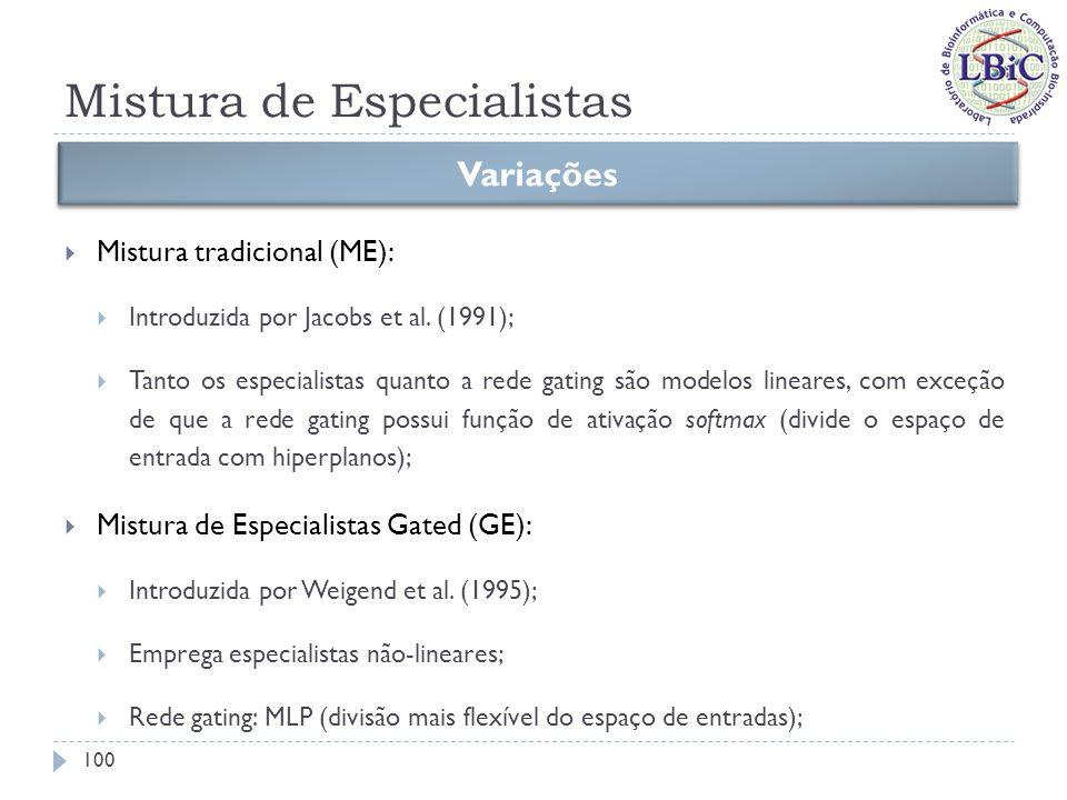 Mistura de Especialistas Mistura de Especialistas Localizados (LME): Introduzida por Xu et al.