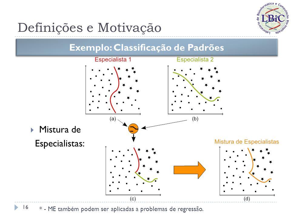 Definições e Motivação Exemplo: Agrupamento de Dados (Clusterização) Ensembles: Combinação por Voto Majoritário 17 Figuras extraídas de Puma-Villanueva (2006)
