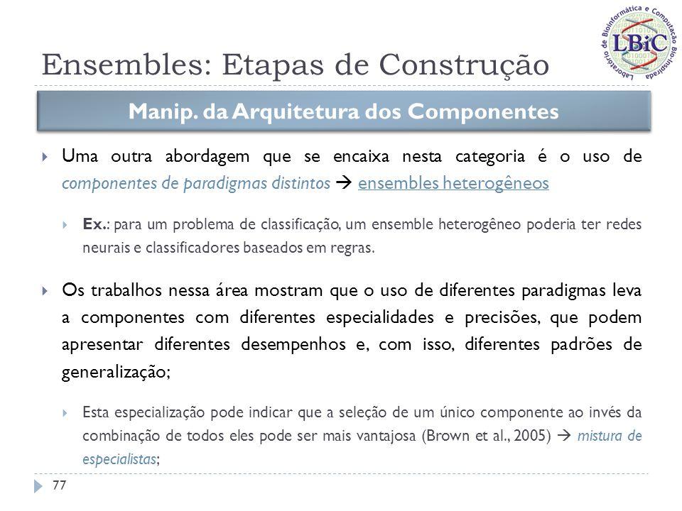 Ensembles: Etapas de Construção Nesta linha, Langdon et al.