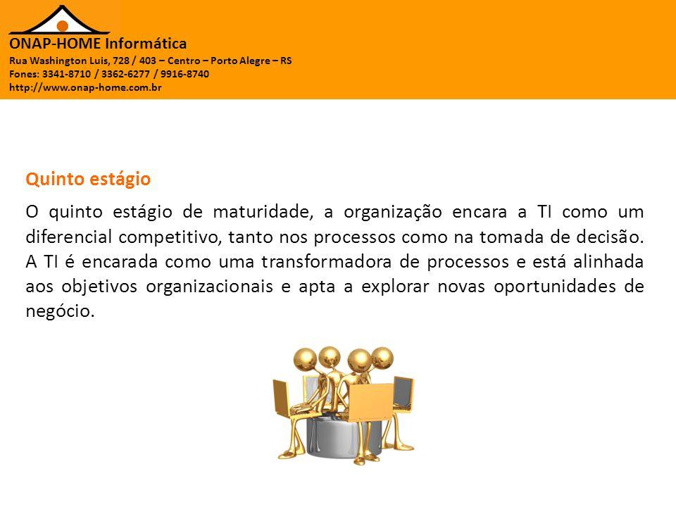 ONAP-HOME Informática Rua Washington Luis, 728 / 403 – Centro – Porto Alegre – RS Fones: 3341-8710 / 3362-6277 / 9916-8740 http://www.onap-home.com.br A missão da TI deve ser de agregar valor ao negócio através de novas tecnologias e processos para reduzir os custos do negócio e mitigar riscos organizacionais.