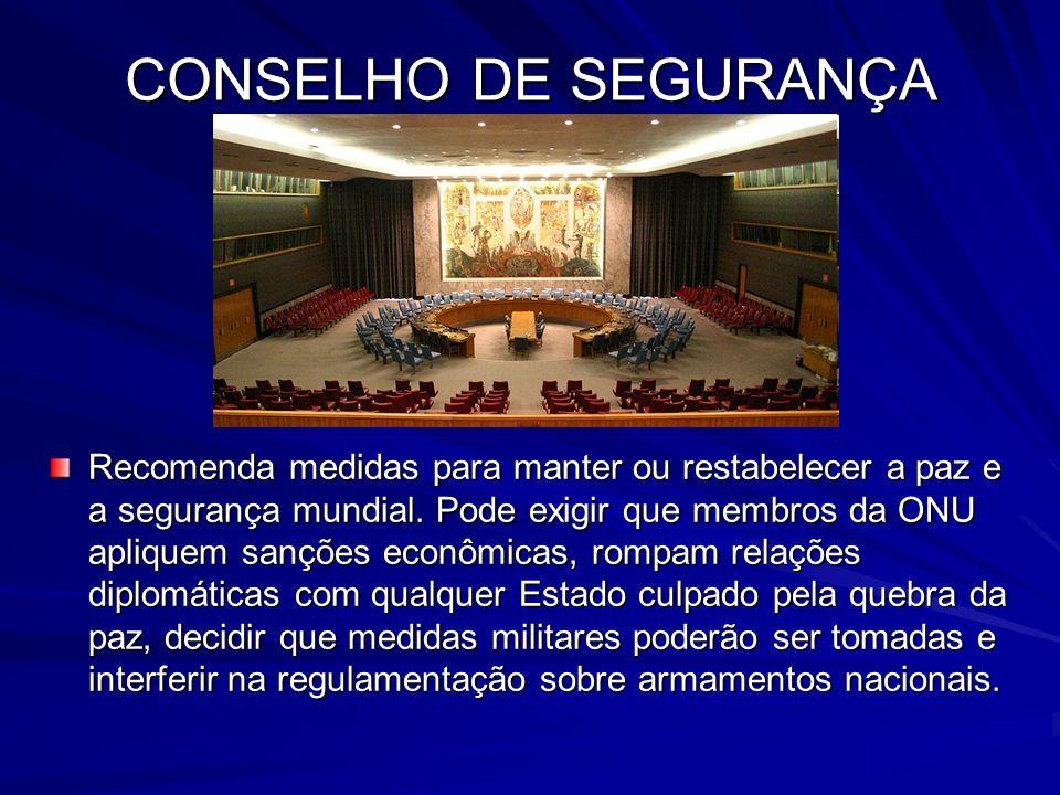 O Conselho é integrado por quinze países, dos quais dez são eleitos por mandato de dois anos, em sistema rotativo.