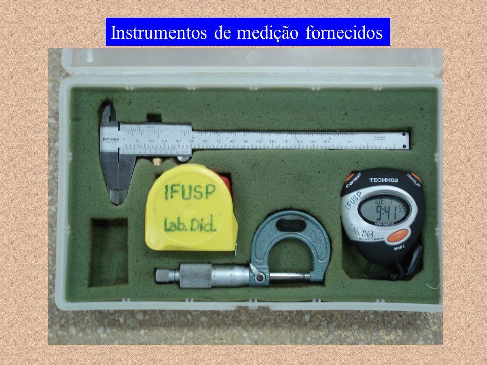 Instrumentos de medição fornecidos