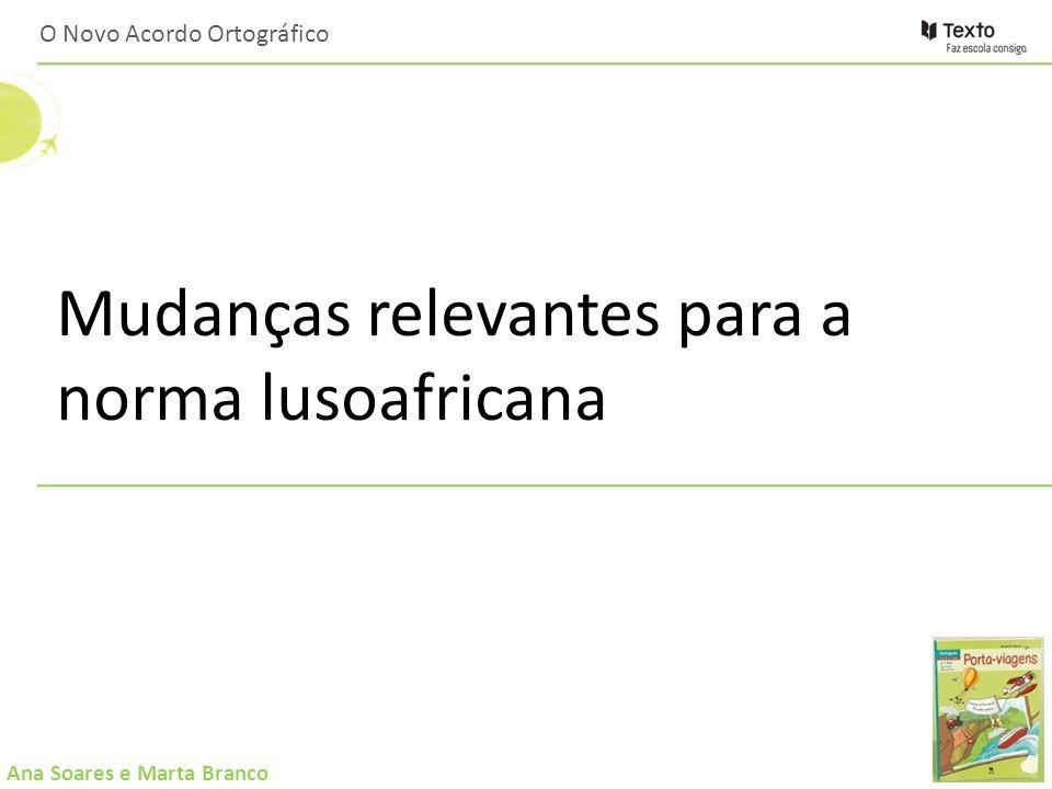 Ana Soares e Marta Branco O Novo Acordo Ortográfico: : Ligações úteis Dicionários em linha: http://www.priberam.pt/dlpo/ Conversor oficial – Lince: http://www.portaldalinguaportuguesa.org/?action=lince http://www.portaldalinguaportuguesa.org/index.php?action=advanced Conversor de texto: http://www.flip.pt/FLiPOnline/ConversorparaoAcordoOrtográfico/tabid/566/D efault.aspx Texto do acordo: http://www.portaldalinguaportuguesa.org/?action=acordo&version=1990
