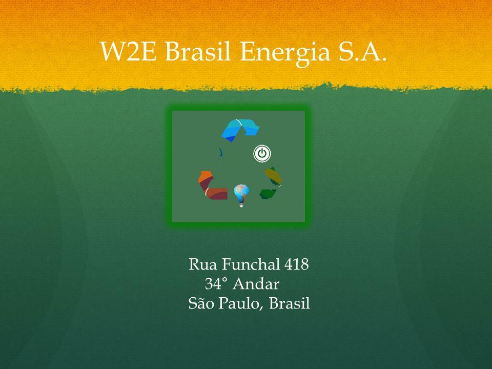 Rua Funchal 418 34° Andar São Paulo, Brasil W2E Brasil Energia S.A.
