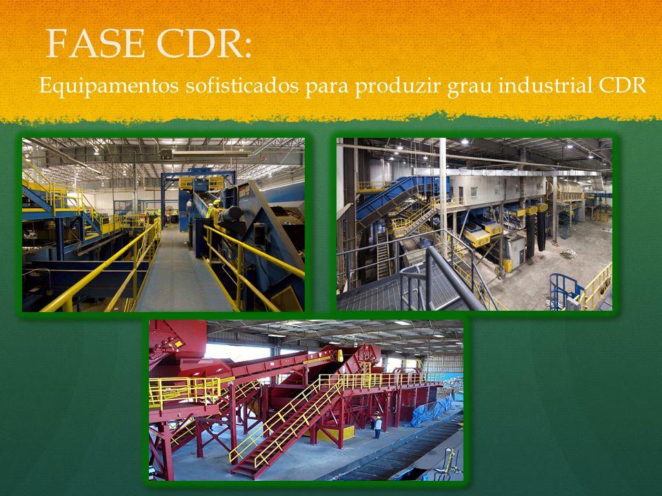 FASE CDR: Equipamentos sofisticados para produzir grau industrial CDR