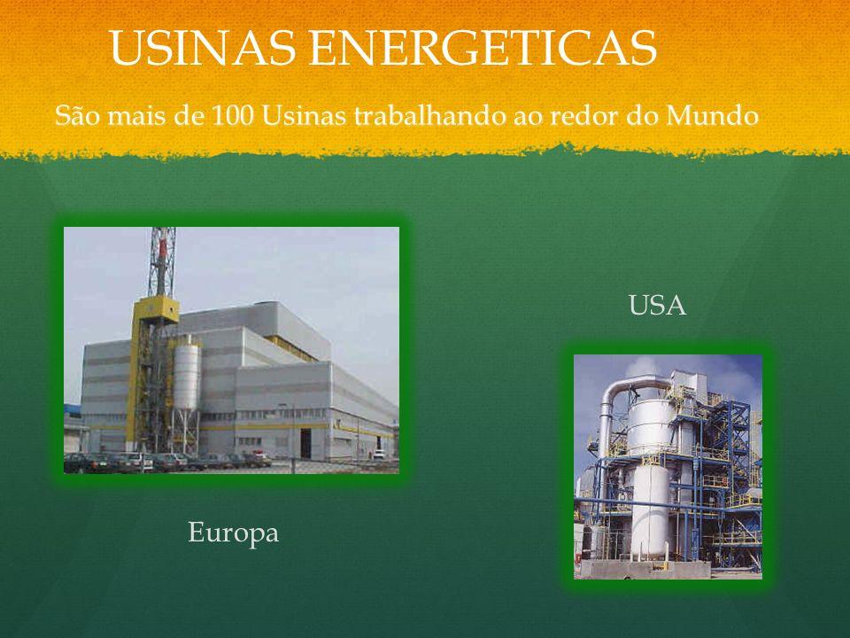São mais de 100 Usinas trabalhando ao redor do Mundo Europa USA USINAS ENERGETICAS