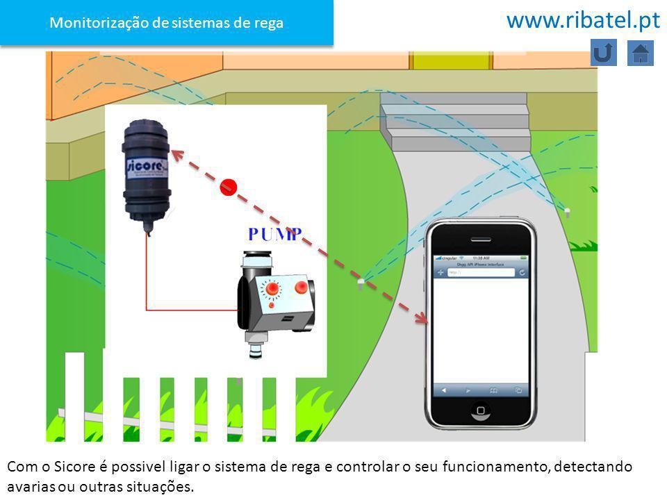 Com o Sicore é possivel ligar o sistema de rega e controlar o seu funcionamento, detectando avarias ou outras situações. Monitorização de sistemas de