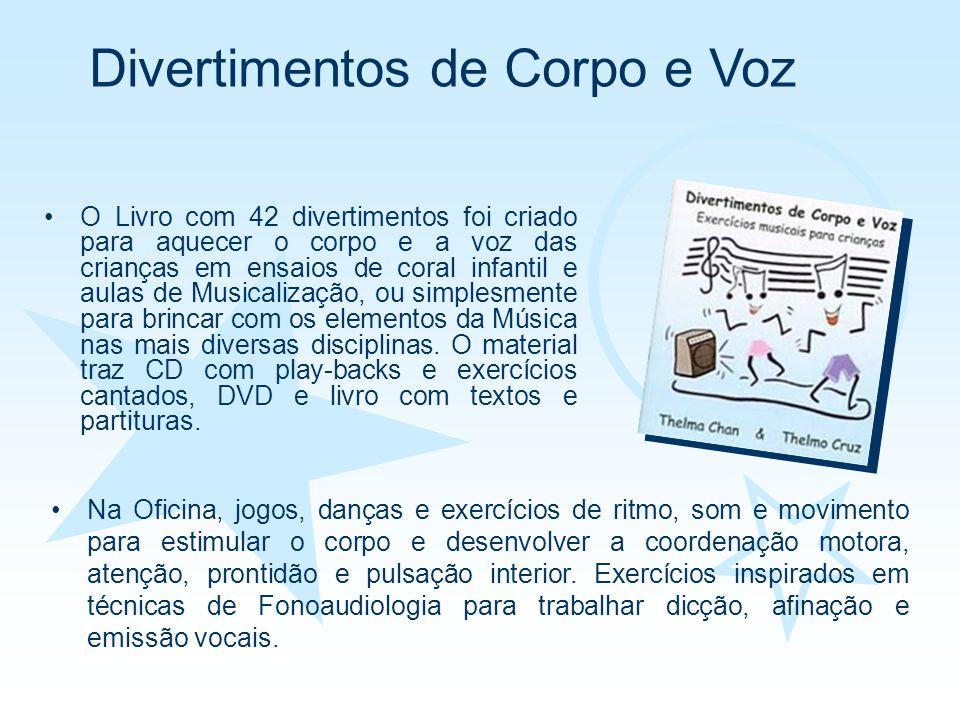 O Livro com 42 divertimentos foi criado para aquecer o corpo e a voz das crianças em ensaios de coral infantil e aulas de Musicalização, ou simplesmen