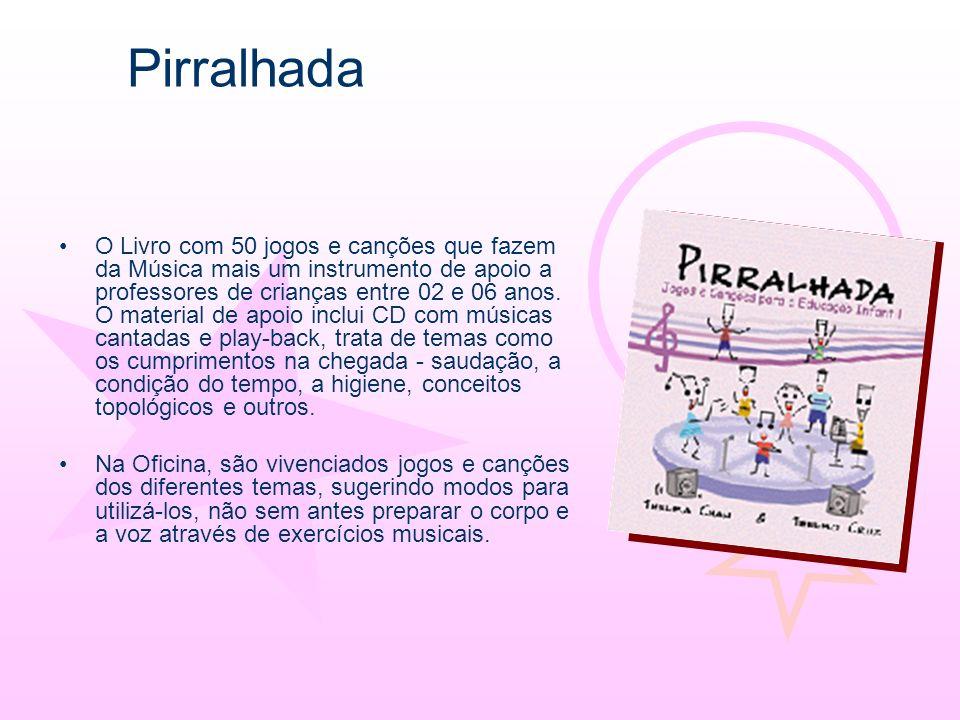 O Livro com 50 jogos e canções que fazem da Música mais um instrumento de apoio a professores de crianças entre 02 e 06 anos. O material de apoio incl