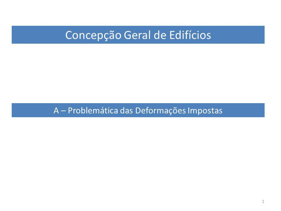 1 Concepção Geral de Edifícios A – Problemática das Deformações Impostas