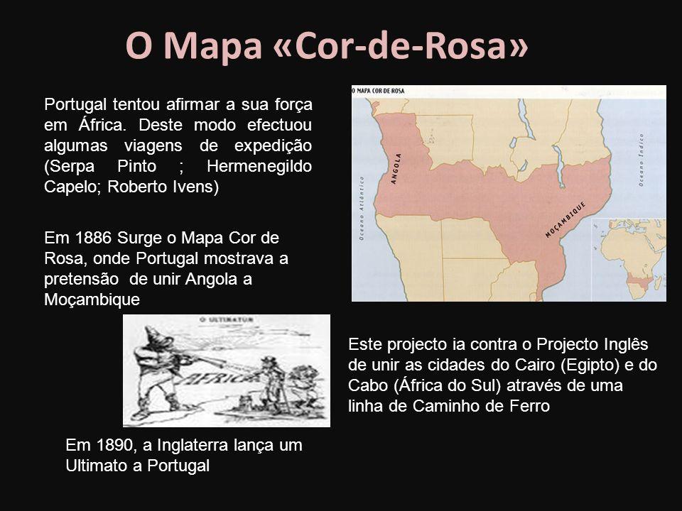 O Mapa «Cor-de-Rosa» Portugal tentou afirmar a sua força em África.